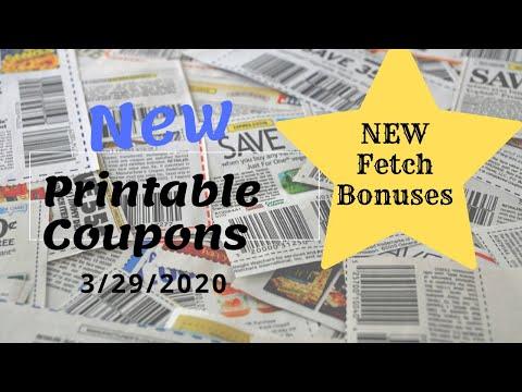 Printable Coupons 3/29/2020 New Fetch Rewards Bonuses!