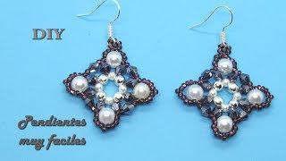 DIY - Pendientes muy faciles - Very easy earrings-  - - Очень легкие серьгиالأقراط سهلة جدا