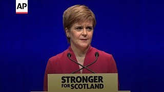 Scotland's Sturgeon renews independence push