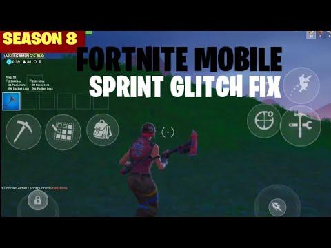 Fortnite Mobile SPRINT GLITCH FIX HOW TO RUN AGAIN SEASON 8