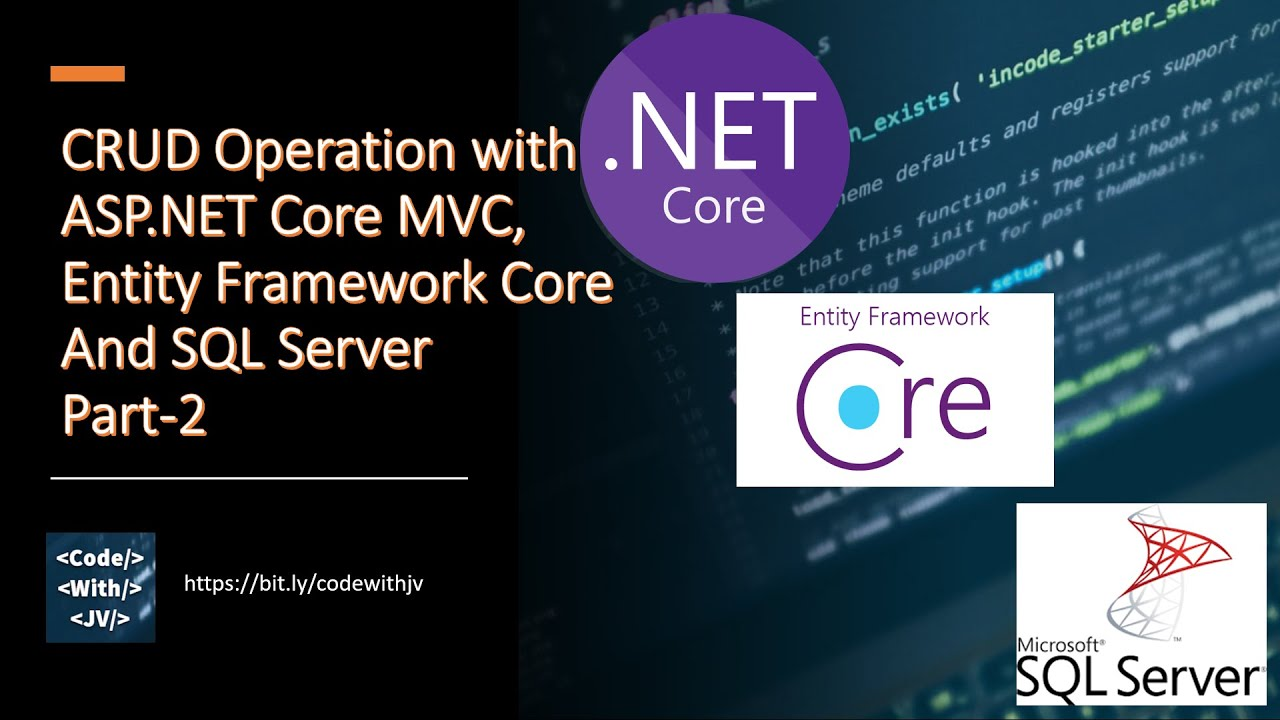CRUD Operation with ASP.NET Core, Entity Framework Core And SQL Server Part-2