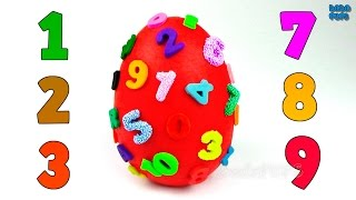 Learn To Count 1 to 10|Numbers 1 to 10 with toys|Giant Play Doh Surprise Egg Numbers1-10