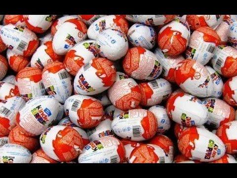 Киндер СЮРПРИЗ видео Разворачиваем ВМЕСТЕ / Kinder eggs