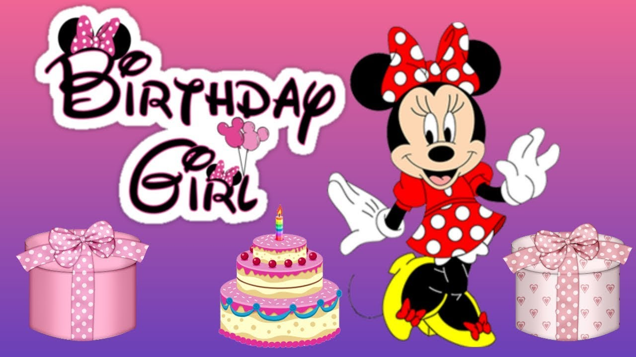 Minnie Mouse Happy Birthday Song Youtube