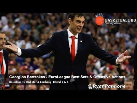 Best EuroLeague Offense sets & actions Georgios Bartzokas   Barcelona Round 3 & 4