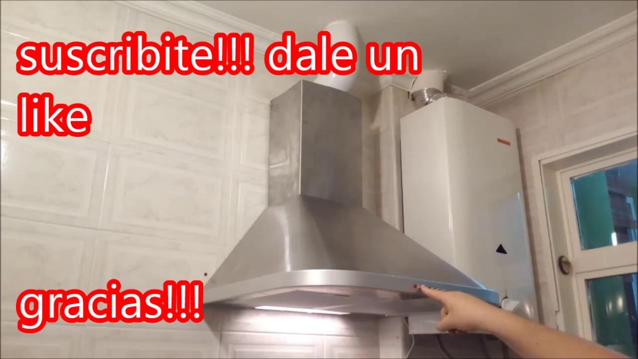 C mo instalar campana extractor domec youtube - Como instalar una campana extractora ...