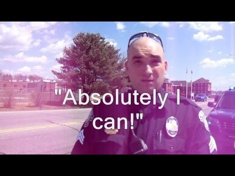 "Cop says ""Absolutely I can!"" when asked if he can restrict me over something I haven't done"