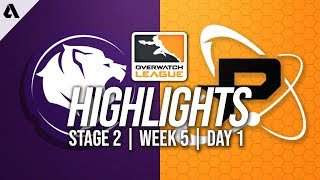 Los Angeles Gladiators vs Philadelphia Fusion | Overwatch League Highlights OWL Stage 2 Week 5 Day 1