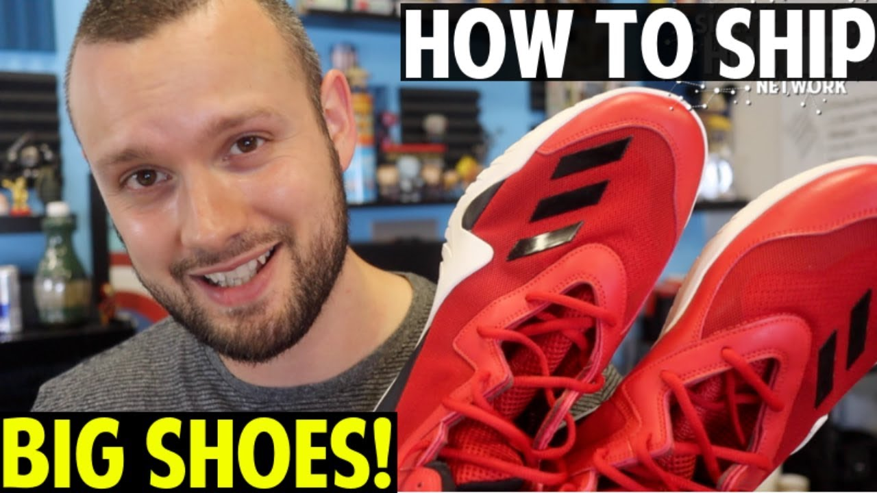 eBay For Beginners | How To Ship BIG Shoes | Step by Step Tutorial