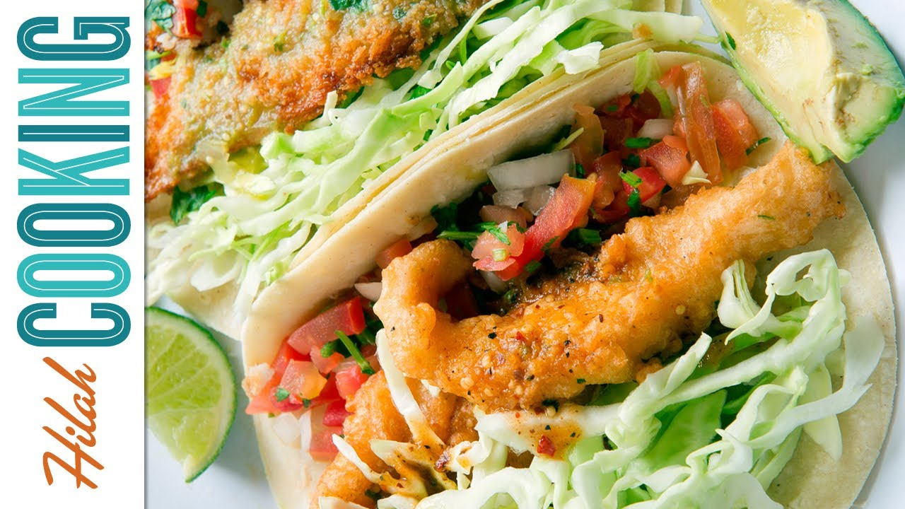Fish taco recipe how to make fish tacos hilah cooking for How to make fish