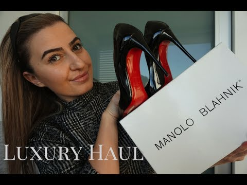 HUGE DESIGNER SHOPPING HAUL | YSL, JIMMY CHOO, MANOLO BLAHNIK, CÉLINE + more