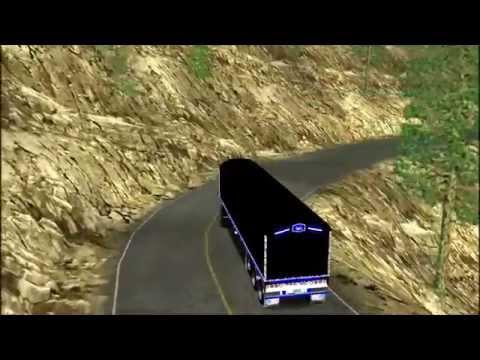 colombian truck simulator bajando con puro freno de motor