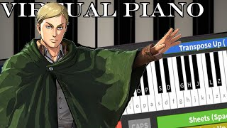 Roblox Virtual Piano: Attack On Titan - Shinzou Wo Sasageyo!
