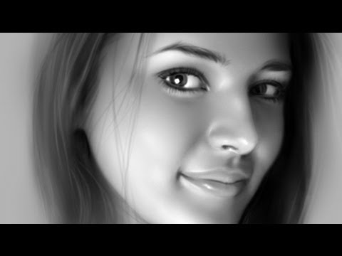 How to Paint a Pretty Face - Portrait Painting - YouTube