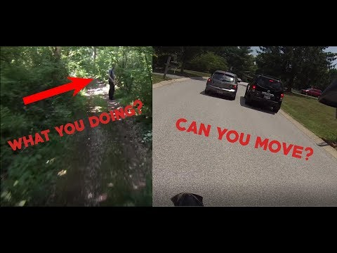 SKETCHY DUDE IN WOODS ALONE || CARS HATES DIRTBIKES || (MotoVlog #4)