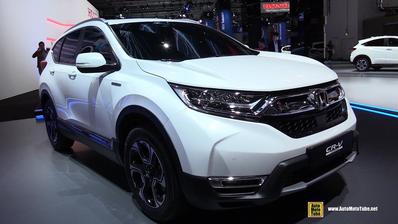 2018 honda crv hybrid exterior walkaround 2017 frankfurt auto show youtube. Black Bedroom Furniture Sets. Home Design Ideas