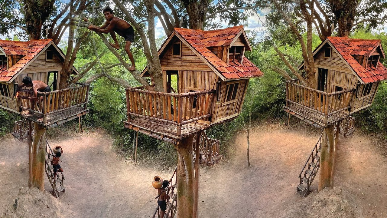 Absolutely Perfect ! Build Amazing Treehouse With Swimming Pool On Higher Tree