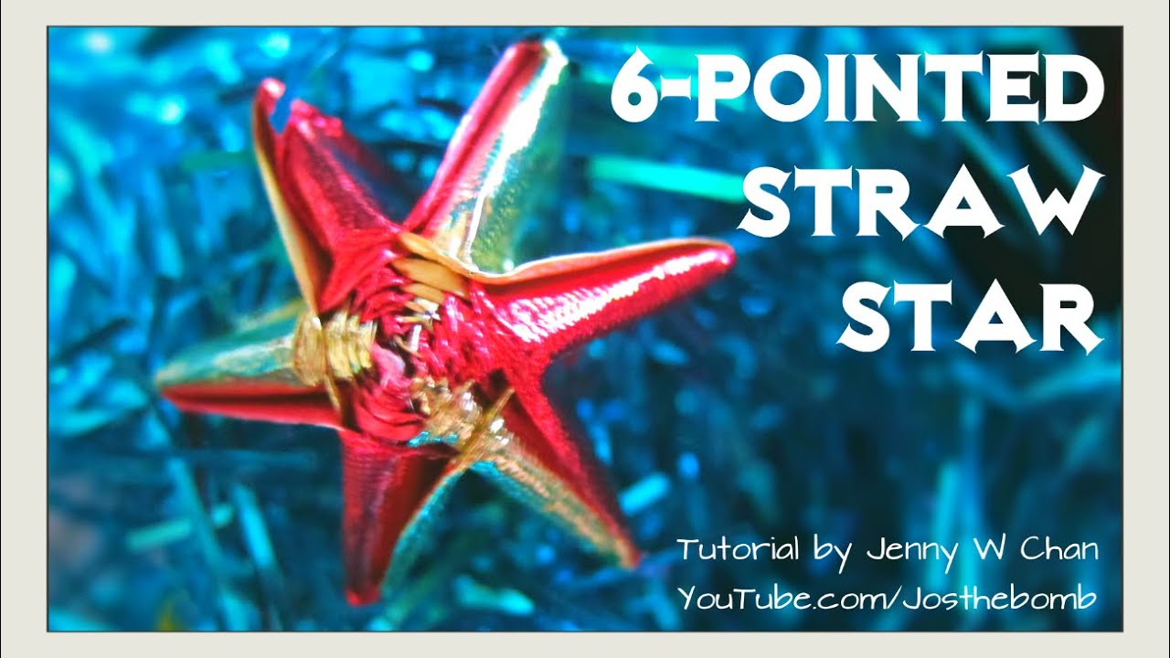 Straw Star - Ribbon Star - How to Make 6-Pointed / 5-Pointed Star ... for straw star lantern  197uhy