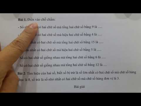 Toán lớp 2-(Nâng cao) Tìm số bị trừ, số trừ, hiệu. Học cùng cô Lan nào??