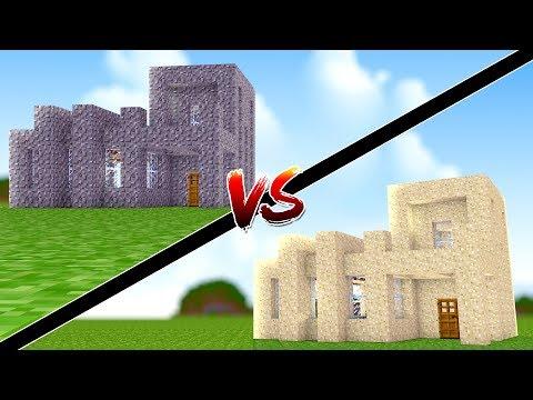 Minecraft: CASA DE AREIA VS CASA DE CLAY !!