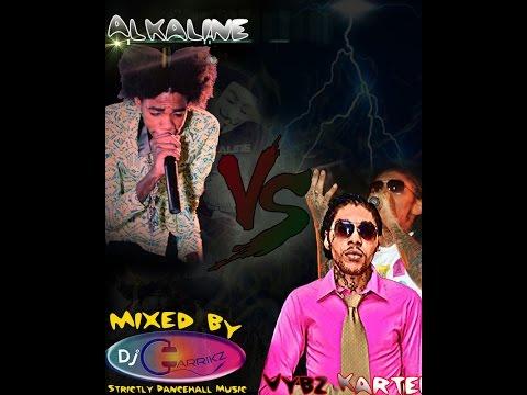 Alkaline vs Vybz Kartel - 2014 Mix - Mixed by @DjGarrikz || Exclusive !!!!!!!