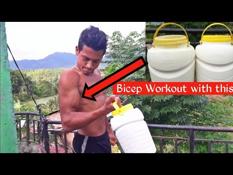 How to Train Biceps at home without dumbbells and barbell | Desi Biceps Workout | ANISH FITNESS |