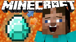 If Diamonds And Lava Switched Places - Minecraft