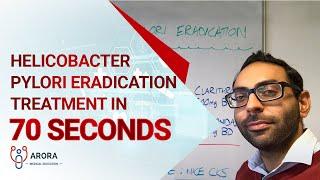 Helicobacter Pylori Eradication treatment in 70 seconds