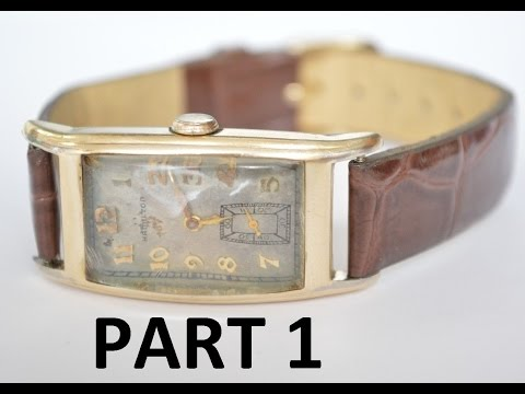 How To do minor Restoration on Vintage Hamilton Wristwatch // Part 1 of 2