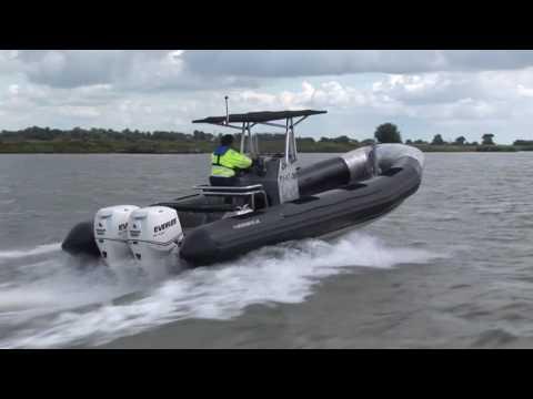 Aluminium workboat: Alunautic Rib 8.00 twin Evinrude 250 hp