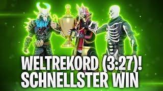 WELTREKORD! SCHNELLSTER WIN IN FORTNITE (3:27)! 🔥 | Fortnite: Battle Royale