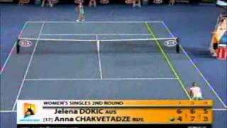 Jelena Dokic vs Anna Chakvetadze 2009 AO Highlights
