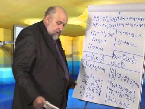 Лекция 5: Решение матричной игры в смешанных стратегиях