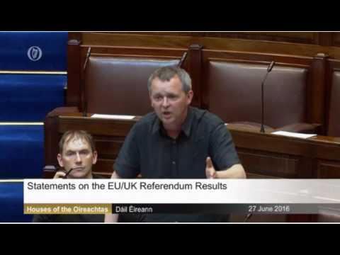 Richard Boyd Barrett speaking on the vote for the UK to leave the EU