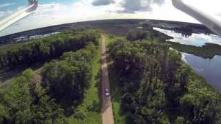 DJI Phantom - Following in car on Prairie
