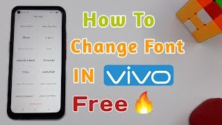 How To Change Font Style In Vivo Smartphones Free | Free Font For Vivo Smartphones 🔥