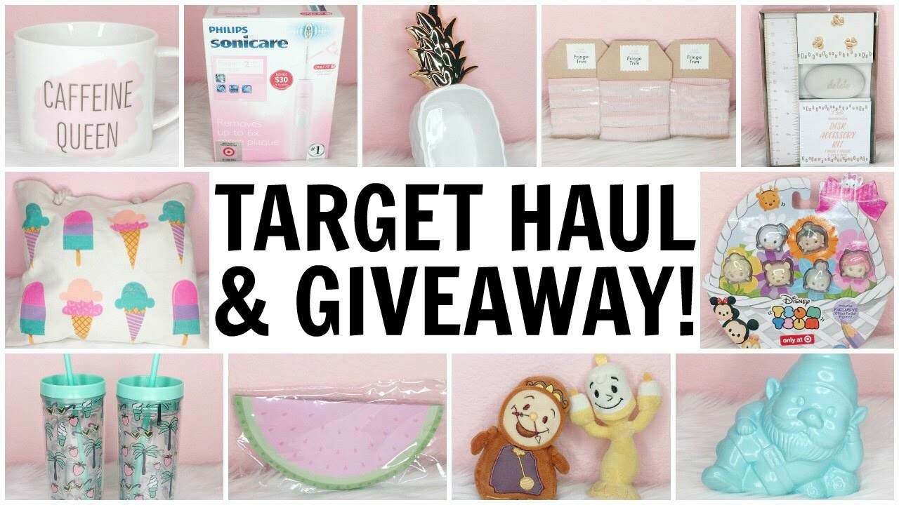 bf167233a242 TARGET HAUL   GIVEAWAY (CLOSED)! ♡ DOLLAR SPOT ♡ SUMMER 2017 - YouTube