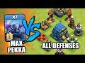MAX LEVEL 8 PEKKA vs. ALL DEFENSES!!  (Clash of Clans TH12 UPDATE)
