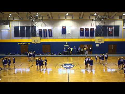 Castle North Middle School Cheerleaders.. Pep Assembly 1/29/14