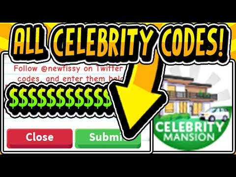 🔥ALL NEW ADOPT ME CELEBRITY UPDATE CODES 2019!!