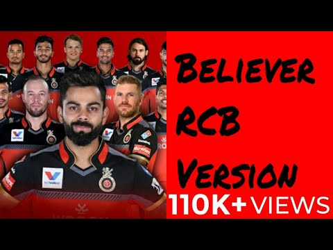 Believer Song | RCB Version |Ft. Royal Challengers Bangalore