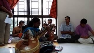 Flute and veena performance