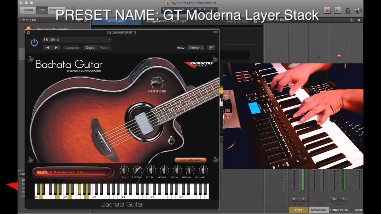 Bachata Guitar VSTi Plugin Demo for Mac AU VST and Windows VST Preview  Review Tutorial como tocar