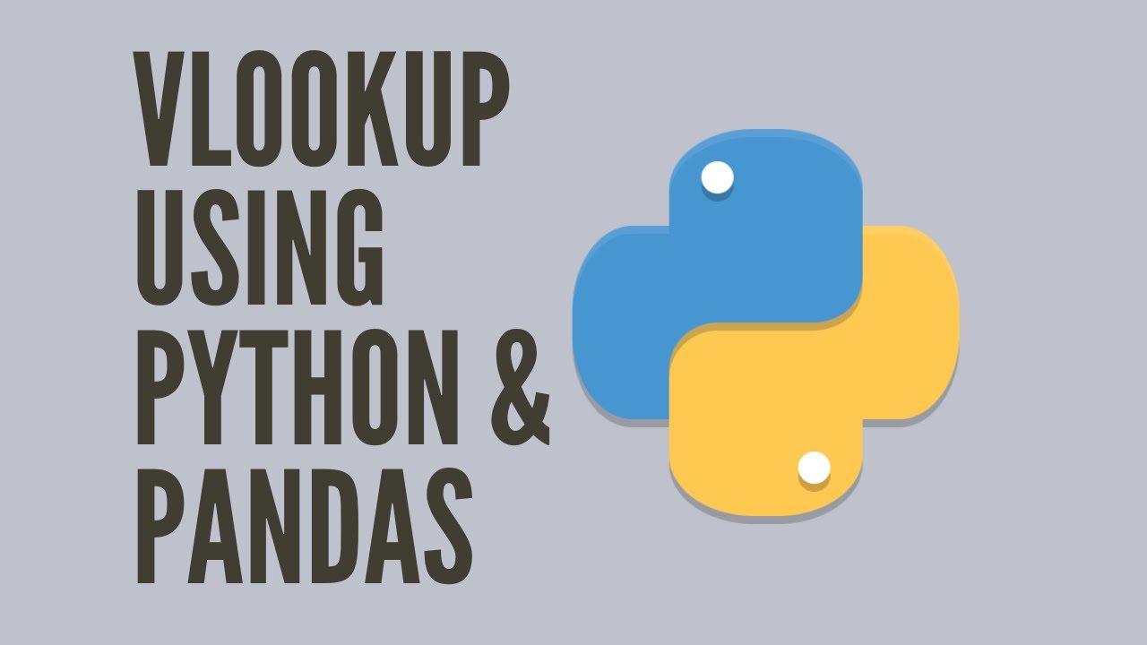 vLookup using Python & Pandas