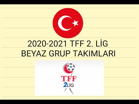 2020-2021 SEZONU TFF 2. LİG BEYAZ GRUP TAKIMLARI   Canlı Oku