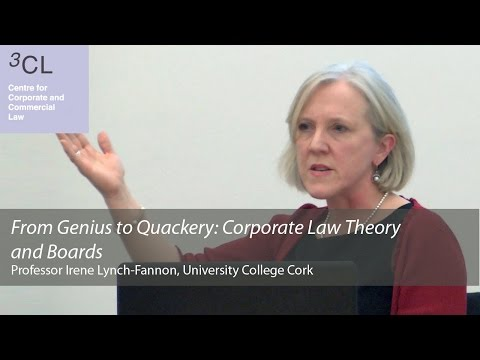 'From Genius to Quackery: Corporate Law Theory and Boards': 3CL Seminar