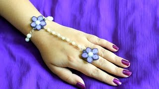 Pearl and Paper Bracelet/ Quilling Bracelet/ DIY Bracelet
