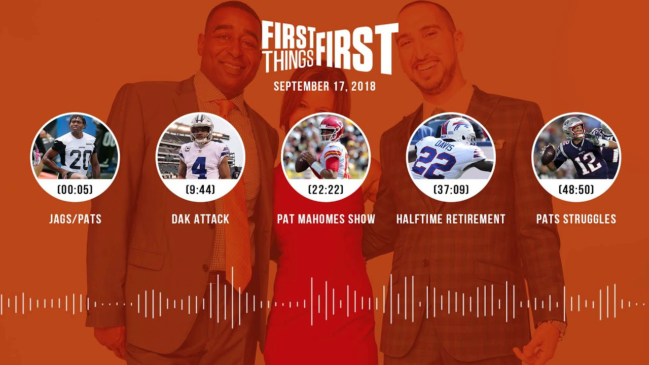 First Things First audio podcast(9.17.18) Cris Carter, Nick Wright, Jenna Wolfe | FIRST THINGS FIRST