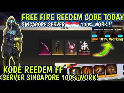 FREE FIRE REEDEM CODE TODAY SINGAPORE SERVER 🇸🇬 APRIL 2021 | FF REEDEM CODE | FF SINGAPORE REGION