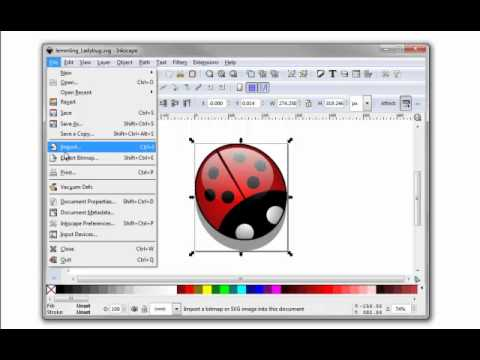 Inkscape - Export File To .png Format